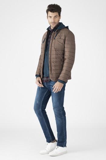 Erkek Giyim - Kapitone Bonded Mont