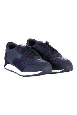 Erkek Giyim - Lacivert 43 Beden Spor Deri Ayakkabı