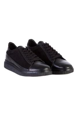 Erkek Giyim - Siyah 42 Beden Spor Deri Ayakkabı