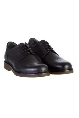 Erkek Giyim - Siyah 44 Beden Casual Bağcıklı Deri Ayakkabı