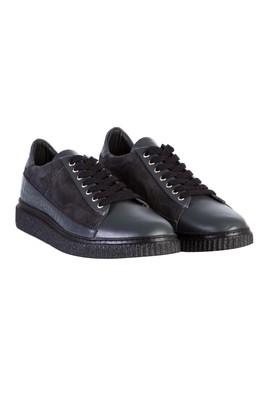 Erkek Giyim - Füme Gri 43 Beden Spor Deri Ayakkabı