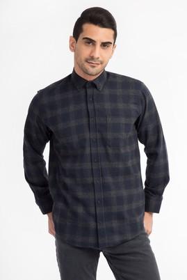 Erkek Giyim - Siyah M Beden Uzun Kol Oduncu Gömlek
