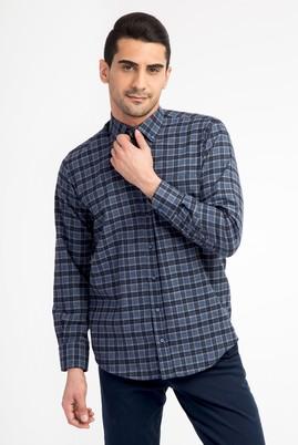 Erkek Giyim - Mavi L Beden Uzun Kol Oduncu Gömlek