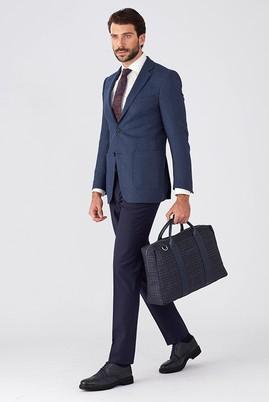 Erkek Giyim - Mavi 52 Beden Slim Fit Kuşgözü Ceket