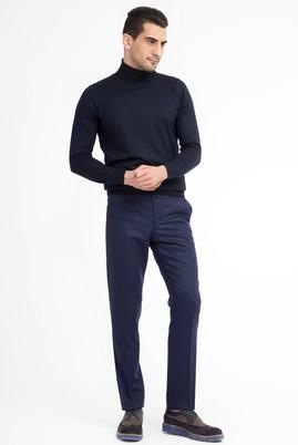 Erkek Giyim - KOYU MAVİ 48 Beden Flanel Pantolon