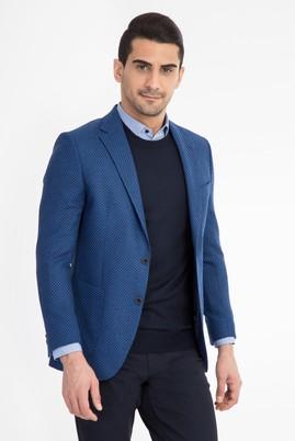 Erkek Giyim - Mavi 58 Beden Kuşgözü Ceket