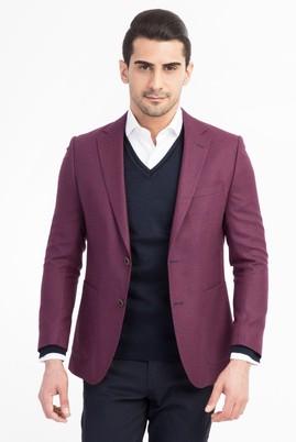 Erkek Giyim - Bordo 46 Beden Kuşgözü Ceket