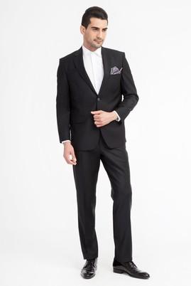 Erkek Giyim - Siyah 52 Beden Kuşgözü Takım Elbise