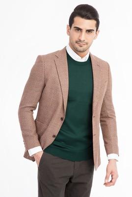 Erkek Giyim - Kahve 46 Beden Kuşgözü Ceket