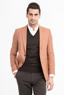 Erkek Giyim - KİREMİT 46 Beden Kuşgözü Ceket