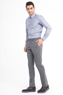 Erkek Giyim - Orta füme 54 Beden Flanel Pantolon