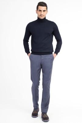 Erkek Giyim - Açık Mavi 52 Beden Flanel Pantolon
