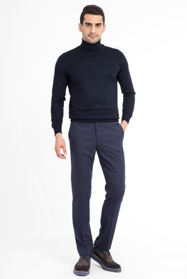 Erkek Giyim - Mor 52 Beden Flanel Pantolon