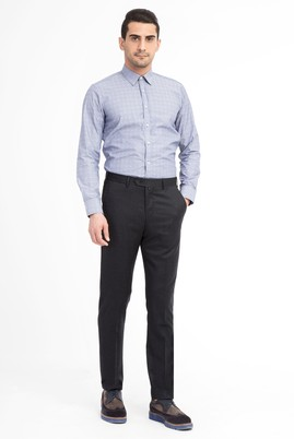 Erkek Giyim - ANTRASİT 64 Beden Klasik Flanel Pantolon