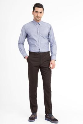 Erkek Giyim - KOYU KAHVE 50 Beden Yünlü Flanel Pantolon