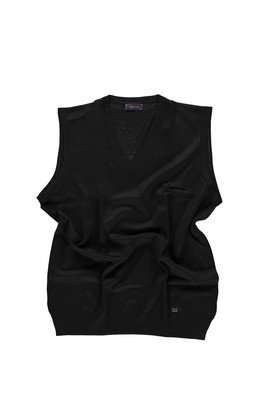 Erkek Giyim - Siyah 5X Beden King Size V Yaka Yünlü Süveter