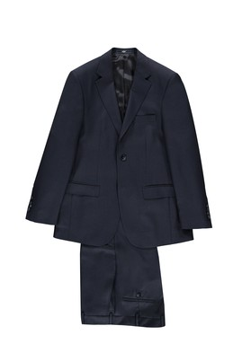 Erkek Giyim - Lacivert 54 Beden Kuşgözü Takım Elbise