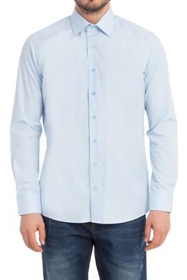 Erkek Giyim - Açık Mavi M Beden Uzun Kol Slim Fit Gömlek