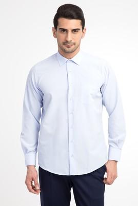 Erkek Giyim - Açık Mavi XL Beden Uzun Kol Klasik Gömlek