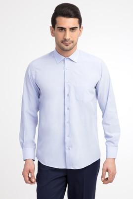 Erkek Giyim - Mavi M Beden Uzun Kol Klasik Gömlek