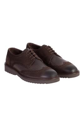 Erkek Giyim - Kahve 45 Beden Casual Bağcıklı Deri Ayakkabı