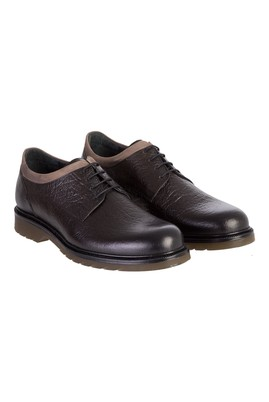 Erkek Giyim - HAKİ 41 Beden Casual Bağcıklı Deri Ayakkabı