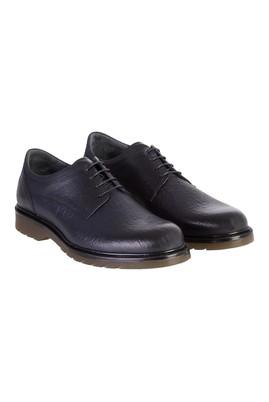 Erkek Giyim - Lacivert 43 Beden Casual Bağcıklı Deri Ayakkabı