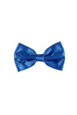 Erkek Giyim - Mavi STD Beden Düz Saten Papyon