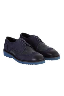 Erkek Giyim - Lacivert 44 Beden Eva Taban Nubuk Deri Ayakkabı