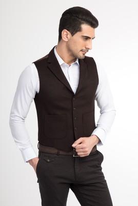 Erkek Giyim - Bordo 60 Beden Mono Yaka Yelek
