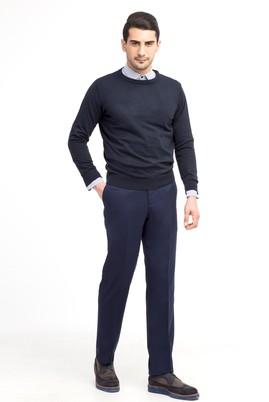 Erkek Giyim - Mavi 56 Beden Yünlü Flanel Pantolon