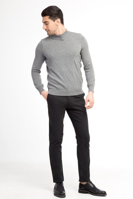 Erkek Giyim - Siyah 58 Beden Spor Saten Pantolon