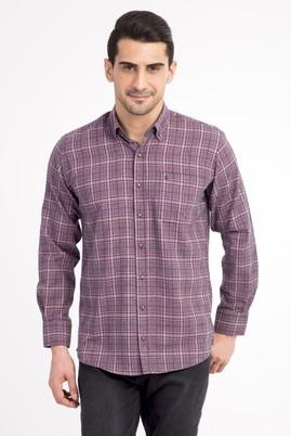 Erkek Giyim - Lacivert 3X Beden Uzun Kol Oduncu Gömlek
