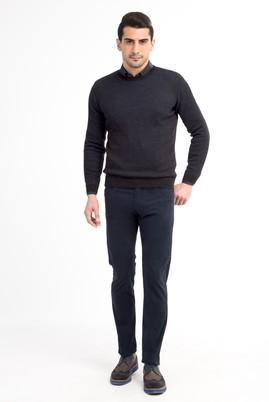 Erkek Giyim - Lacivert 48 Beden Slim Fit Spor Pantolon