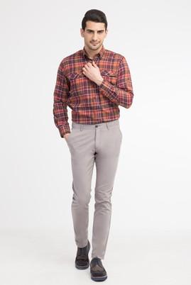 Erkek Giyim - Açık Gri 52 Beden Slim Fit Spor Pantolon
