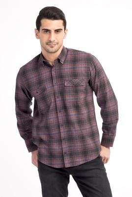 Erkek Giyim - Lacivert L Beden Uzun Kol Oduncu Gömlek