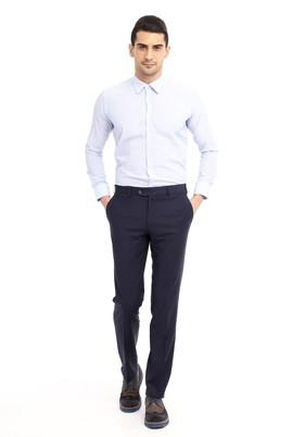 Erkek Giyim - KOYU MAVİ 56 Beden Yünlü Klasik Pantolon