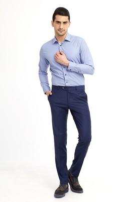 Erkek Giyim - KOYU MAVİ 50 Beden Slim Fit Pantolon