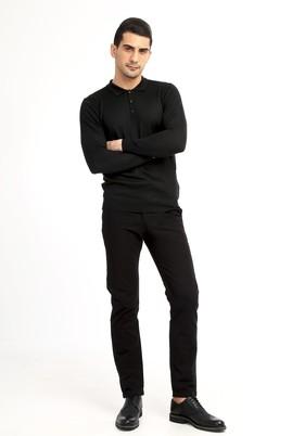 Erkek Giyim - Siyah 54 Beden Slim Fit Spor Pantolon