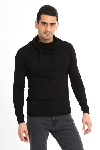 Erkek Giyim - Degaje Yaka Slim Fit Triko Kazak