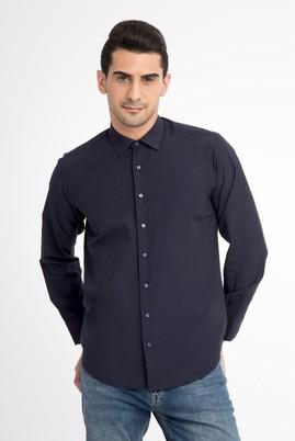 Erkek Giyim - Lacivert XL Beden Uzun Kol Klasik Gömlek