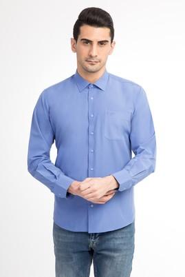 Erkek Giyim - Mavi XXL Beden Uzun Kol Klasik Gömlek