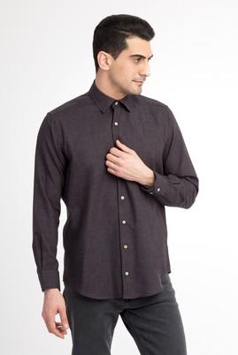 Erkek Giyim - Kahve 4X Beden Uzun Kol Oduncu Gömlek