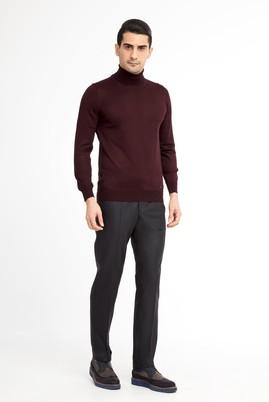 Erkek Giyim - Antrasit 50 Beden Klasik Desenli Pantolon