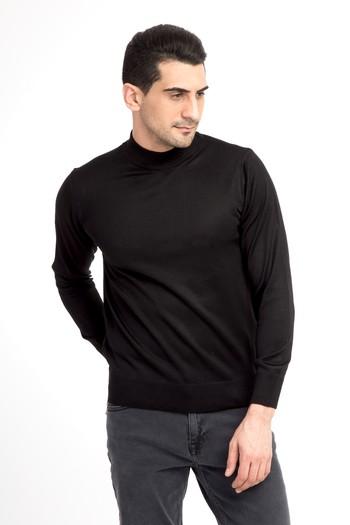 Erkek Giyim - Bato Yaka Slim Fit Triko Kazak