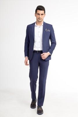 Erkek Giyim - Mavi 50 Beden Slim Fit Takım Elbise