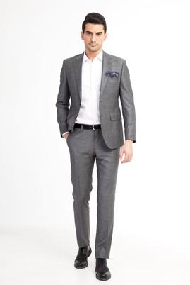 Erkek Giyim - Açık Gri 48 Beden Slim Fit Takım Elbise