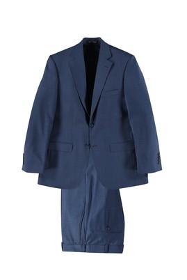 Erkek Giyim - Mavi 52 Beden Kuşgözü Takım Elbise