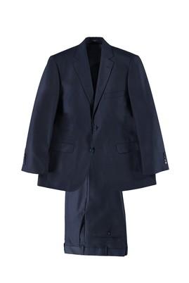 Erkek Giyim - KOYU MAVİ 48 Beden Desenli Takım Elbise