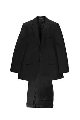 Erkek Giyim - Siyah 50 Beden Ekose Takım Elbise
